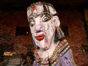 Puli, Nantou county, sculptures aborigènes