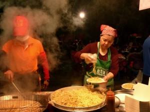 Puli. Marché de nuit de Puli, Wushe, Cinjing farm, Leshan Hot springs