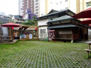 Taipei. Café cosy et jardin dans une ancienne maison japonaise