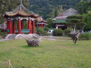 Taipei, Shilin, dans le jardin d'une des résidences de CKS